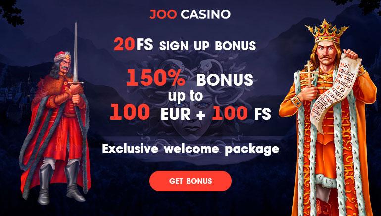 Joo Casino - 150% БОНУС ДО 100 Евро И 100 БЕЗПЛАТНИ ВРЪЩАНИЯ