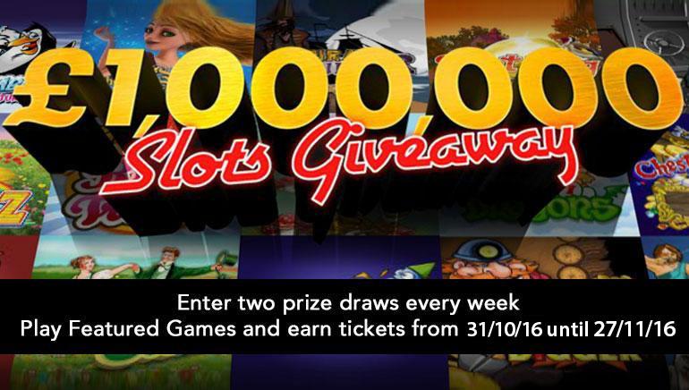 Спечелете цяло състояние със Slots Giveaway на bet365 този ноември