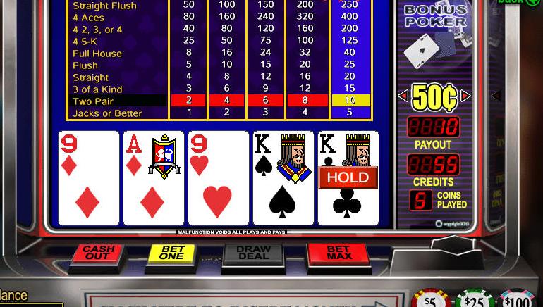 video poker double bonus